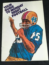 Vintage 1973 Your Guide to Monday Night Football NFL Booklet