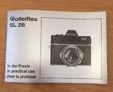 Original Rolleiflex SL26 In Practical Use Manual, Instruction Book Genuine