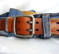 Genuine vintage bull Leather belt 43mm Waist handmade classict size XL retro 60s