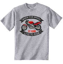 HONDA GT HAWK - NEW COTTON GREY TSHIRT - ALL SIZES IN STOCK