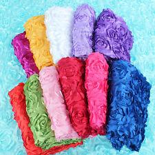 Rosette 3D pattern Taffeta Flower Fabric wedding carpet stage background decor