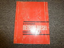 Detroit Diesel Model 2-71 Engine Shop Service Repair Maintenance Manual