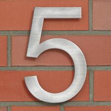 Hausnummer 5 Hausnummern Zimmernummer aus Edelstahl 20 cm