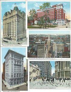 8 postcards of Philadelphia PA