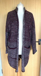 White Stuff Ladies Cardigan 16 Open Pockets Long Pockets Casual Winter Mohair