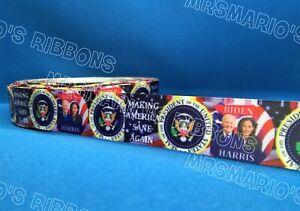 USA Biden Harris make America sane again satin cake/craft ribbon @ MrsMario's