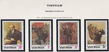VIETNAM N°534/537** LENINE, 1984 Vietnam 1452-1455 LENIN MNH