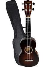 """21"""" Basswood Soprano Ukulele Hawaiian Instrument Polishing finished w/Carry Bag"""