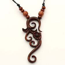 NECKLACES necklace Sono wood pretty design Pendant necklaces NJ-089 hand carved