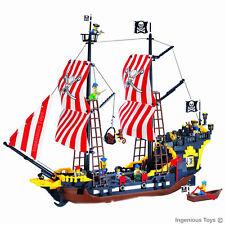 GRANDE NAVE 8 Pirates Figure Cannoni Mar dei Caraibi 870pcs compatibile con blocchi di #308