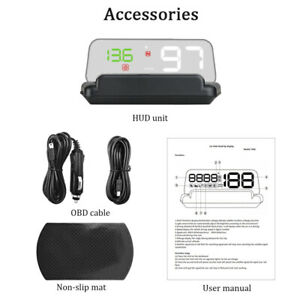 Car HUD LED GPS Speed Water Temperature HUD Head-up Projector Universal Kit KM/H