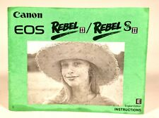 Vintage Early 1990s Canon Rebel Ii / Rebel S Ii Genuine Instruction Manual