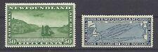 Newfoundland Scott C10 (50c w WM) and C8 ($1 no WM)  VFNH  Cats $280 CAD