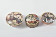 k64o18- 3x Porzellan Deckeldose m. Spieluhr