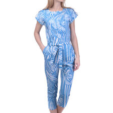 ROBERTO CAVALLI Jumpsuit Size 10Y / 154 CM Patterned Tie Belted Cropped RRP €370