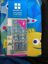 New Shower Curtain Fish Colorful Essential Home Fabric Happy Creatures Must Go!