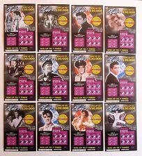 Elvis Presley VA. Instant SV Lottery Ticket Set, 12 different