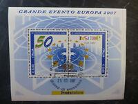 2007 ITALY 50th ANNIVERSARY TREATY OF ROME 2 STAMP MINI SHEET USED