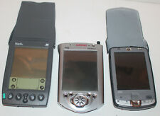 Lot of 3 Untested Pdas Pocket Computers Palm Pilot IpaQ As Is Vintage Pc Compaq