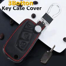 3 BTN Leather Key Case Cover Fob For FIAT Panda Stilo Punto Doblo Grande Bravo
