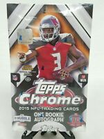2015 Topps Chrome Football NFL Trading Cards Hobby Box 1 Rookie Autograph Sealed