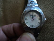 Ladies Rip curl OCEAN TECH Mother of Pearl Face Quartz watch Silver Working