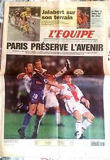 L'Equipe Journal 16/04/1997; Bastia-PSg 1-1/ Jalabert Flèche W/ Le Mans et Nancy