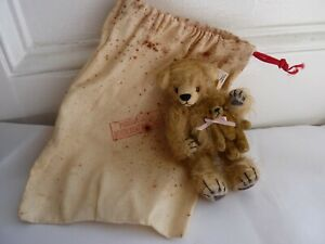 Vintage Miniature Limited Edition Mossie Bears ' Me & Ted' 1 of 1 Nov 99