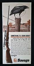 Vintage 1963 Savage Arms 4-M 22 Magnum Rifle Ad