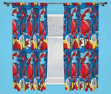 "Spiderman Webhead Curtains 66"" X 54"" Kids Bedroom"