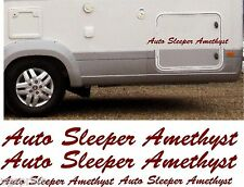 AUTO SLEEPER AMETHYST 4 PIECE KIT DECALS STICKERS CHOICE OF COLOURS & SIZES