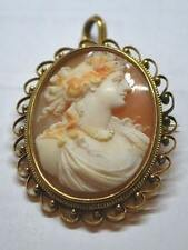 Cameo Antique Italian Hand-Carved set in 10kt Gold Frame