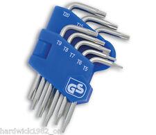 Mini Small Torx Star Key Set In Clip T5 T6 T7 T8 T9 T10 T15 T20 - ECU's Airbags