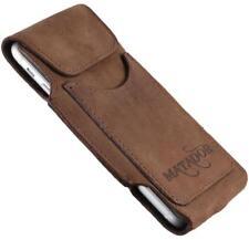 "Apple iPhone 6 Plus 5,5"" Leder Handy Tasche Gürtelclip Matador Card-Clip Braun02"