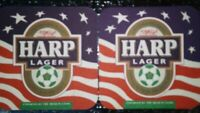 Harp Lager Endorsed By The Irish Soccer Players Beer Mat Coaster Lot Of 8