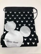 851c2a704cb MICKEY MOUSE BACKPACK DRAWSTRING SLING TOTE BAG LICENSED NWT DISNEY LAND  SILVER!