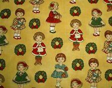 "ADORABLE! CHRISTMAS WINDHAM PAPER DOLLS - ANTIQUE GOLD -  BTFQ - 18""X22"""
