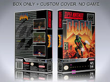 DOOM. Box/Case Only. Super Nintendo. BOX + COVER. (NO GAME).