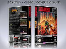 DOOM. Box/Case Only. Super Nintendo. BOX + COVER. (NO GAME).