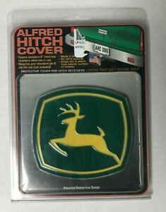 """John Deere Alfred hitch Cover for 2"""" hitch box receiver Made in USA (LP14769)"""