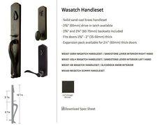 Wasatch Entry Door Handleset