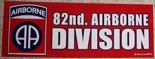Bumper Window Sticker 82nd Airborne Self Stick Vinyl 3¼x9 NEW Made in USA