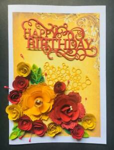 3D Birthday,Thank you,Annivasary 100%Handmad Greeting Card colorful gift card