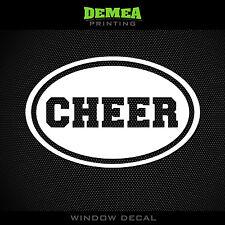 "Cheer - Cheerleading - Oval - 5"" Vinyl Decal/Sticker - CHOOSE COLOR"