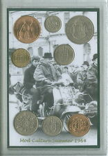 SIAMO I MODS VESPA Vintage Mod Quadrophenia Retro Coin display Gift Set 1964