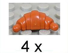 LEGO - 4 x Croissant dunkelorange / Dark Orange / Croissants / 33125 NEUWARE