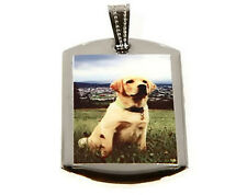 CUSTOM MADE POLYMER GLAZED UV COATED COLOR SMALL DOG TAG PICTURE PHOTO PENDANT