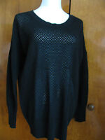 Bloomingdale's Women's Black 2ply Cashmere Sweater New