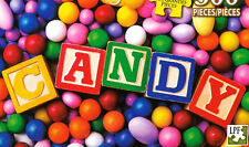 """CANDY!"" Colorful Sweets Baby Blocks Almonds Gumballs BOXLESS Jigsaw Puzzle *NEW"