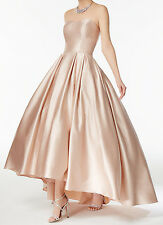 Betsy & Adam New Strapless High-Low Ball Gown Size 12 #2A 65/12
